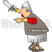 Roman Army Soldier Holding a Knife Clipart © Dennis Cox #5068