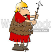 Roman Army Soldier Armed with a Spear Clipart © Dennis Cox #5072