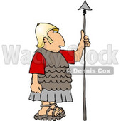 Roman Soldier Holding a Spear Clipart © Dennis Cox #5073