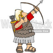 Roman Army Soldier Shooting a Bow and Arrow Clipart © djart #5074