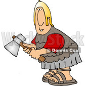 Roman Army Soldier Holding an Axe Clipart © Dennis Cox #5077