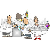 Male and Female Chemists Testing Chemicals in a Chemistry Lab Clipart © djart #5082