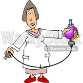 Female Scientist Testing Chemicals Clipart © djart #5083