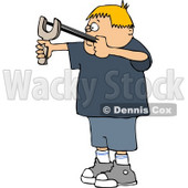 Boy Shooting a Slingshot Clipart © djart #5093