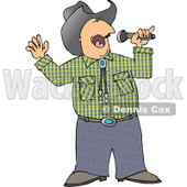 Cowboy Singing Country Music Clipart © Dennis Cox #5096