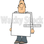 Man Wearing Blank Sign Over His Body Clipart © Dennis Cox #5097
