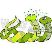 Male & Female Snakes Mating Clipart © djart #5106