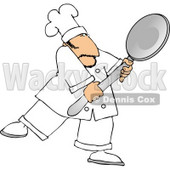 Caucasian Male Chef Carrying a Big Spoon Clipart © djart #5119