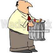 Man Talking Out Garbage Clipart © djart #5123