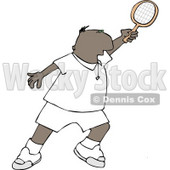 Ethnic Man Playing Tennis Clipart © djart #5129