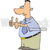Businessman Nerd Thumbs Up Clipart © djart #5132
