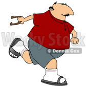 Man Playing Horseshoe Game Clipart © djart #5133