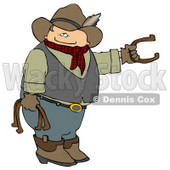 Cowboy Playing Horseshoe Game Clipart © Dennis Cox #5134