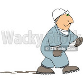 Male Worker Chewing On Tobacco Clipart © Dennis Cox #5141