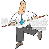 Conceptual Businessman Balancing On a Tightrope Clipart © djart #5146