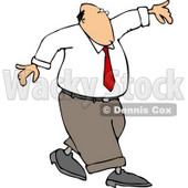 Conceptual Clipart Illustration of a Man Walking and Balancing On a Tightrope © djart #5152