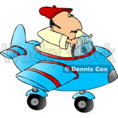 Man Playing Around In a Toy Airplane Clipart © Dennis Cox #5153