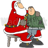Boy Sitting On Santa's Lap Clipart © Dennis Cox #5162
