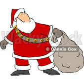 Santa Delivering Christmas Presents Clipart © djart #5170