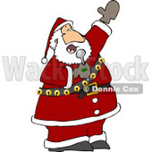 Santa Singing Karaoke Christmas Music Clipart © djart #5172