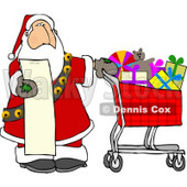 Santa Shopping in a Toy Store from His List Clipart © djart #5176