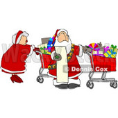 Mr. and Mrs Claus Shopping for Christmas Presents Clipart © djart #5177