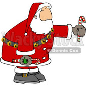Santa Holding Candy Canes Clipart © djart #5178