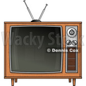 Old-fashioned Television Set Clipart © Dennis Cox #5183
