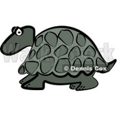 Grey Cartoon Turtle Clipart © djart #5185