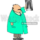 Male Doctor Looking at X-ray of Human Spine Clipart © Dennis Cox #5186