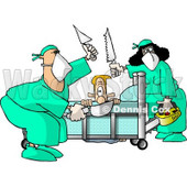 Male Patient Getting Some of His Limbs Amputated by Doctors at a Hospital Clipart © Dennis Cox #5190