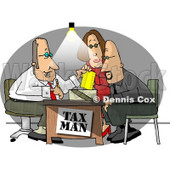 Husband and Wife Getting Taxes Done by Their Professional Accountant Clipart © Dennis Cox #5198