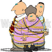 Family People Tied Up by an Intruder Clipart © Dennis Cox #5199