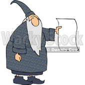 Wizard Holding a Blank Paper - Royalty-free Wizard Clipart Illustration © Dennis Cox #5200