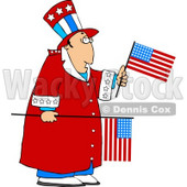 Grumpy Uncle Sam Clipart © Dennis Cox #5225