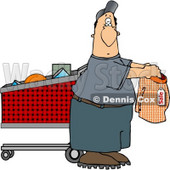 Man Shopping for Underwears Clipart © djart #5229