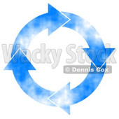Cloudy Blue Sky Arrows Turning Clockwise Clipart Concept © Dennis Cox #5246