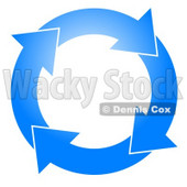 Blue Circle of Arrows Turning Clockwise Clipart © Dennis Cox #5247