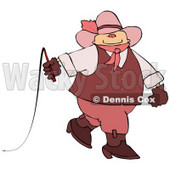 Gay Cowboy Wearing Woman's Clothing Clipart © Dennis Cox #5250