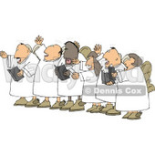 Chorus Angels Singing Together Clipart Illustration © djart #5258