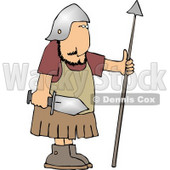 Roman Army Soldier Armed with a Sword and Spear Clipart © djart #5263