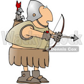 Roman Archer Soldier Shooting an Arrow Clipart © Dennis Cox #5265