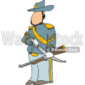 Union Soldier Clipart Illustration © Dennis Cox #5267