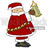 Santa Holding a Beer Stein Clipart Illustration © djart #5479