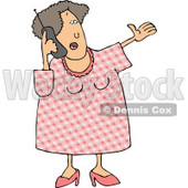 Woman Talking On a Cellphone Clipart Illustration © djart #5483