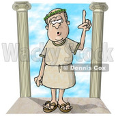 Roman era Philosopher Clipart Illustration © Dennis Cox #5501