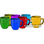 Assorted Coffee Cups Clipart Illustration © Dennis Cox #5502