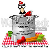Fresh Vegetable Chicken Soup Clipart Illustration © djart #5504