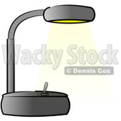 Black Office Desk Lamp Clipart Illustration © Dennis Cox #5508