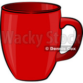 Empty Red Coffee Cup Clipart Illustration © Dennis Cox #5511
